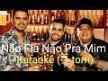 Não Fala Não Pra Mim karaokê (-1 tom) - Humberto e Ronaldo part. Jerry Smith
