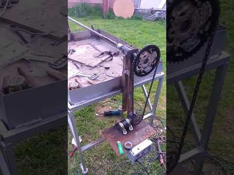 parrilla eléctrica casera con motor de limpia parabrisas