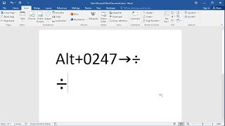 How to Type the Divide (Division) Symbol in Word
