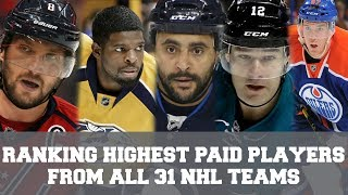 Ranking The HIGHEST PAID Players From All 31 NHL Teams