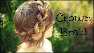 How to do a Crown Braid | Halo Braid | Braidsandstyles12