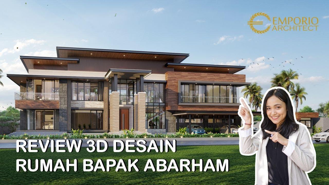Video 3D Mr. Abarham Modern House 2 Floors Design - Palembang, Sumatera Selatan