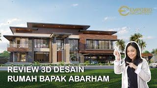 Video Desain Rumah Modern 2 Lantai Bapak Abarham di  Palembang, Sumatera Selatan