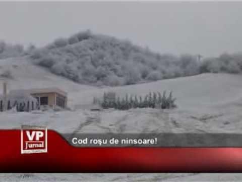 Cod roşu de ninsoare!