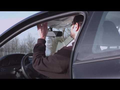 Lescars Universal-Tag- & Nacht-Auto-Blendschutz für die Sonnenblende, 30x13 cm
