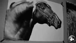 Realistic drawing of horse (GFKStudio)