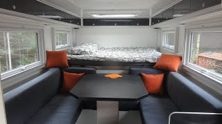 4WD MAN Overland expedition camper, Part 1: INTERIOR, detailed