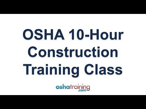 OSHA 10 Hour Construction Training - YouTube