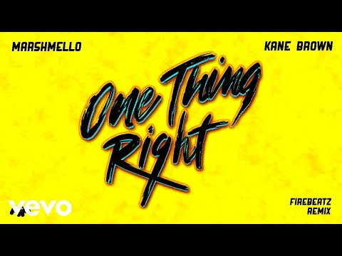 Marshmello, Kane Brown - One Thing Right (Firebeatz Remix [Audio])