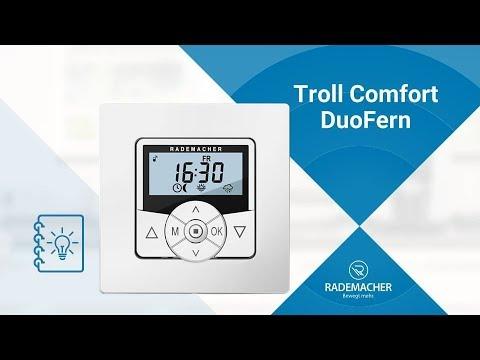 RADEMACHER: Funk-Rollladenschaltuhr Troll Comfort DuoFern #1 – Anwendungsvideo