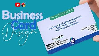 6117FREE LESSON | Design An Eye Catching Awesome Business Card in Adobe Photoshop
