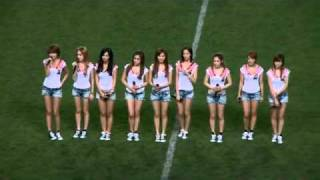 20090808 Tell Me Your Wish Genie + Gee   SNSD at JOMO Cup Pro Football Korea Japan All Star Match