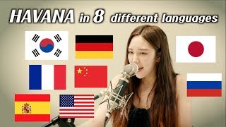 One girl singing 'Havana' in 8 different languages (by.Chuther)/ 하바나를 8개 국어로 부르면??!