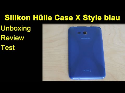 Samsung Galaxy Tab 3 Lite 7.0 Silikon Hülle Case X Style blau - Review, Test