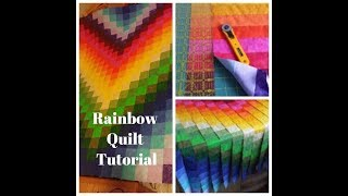 Jelly Roll Rainbow Quilt Tutorial (Inspired By Man Sewing)