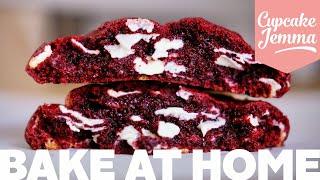 Red Velvet New York Cookie Recipe!   Cupcake Jemma