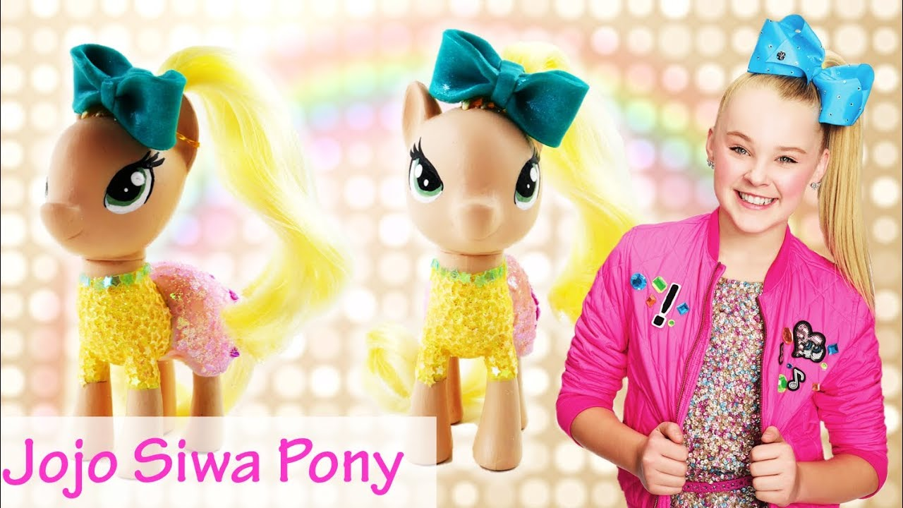 Jojo Siwa as My Little Pony - My Little Pony Custom Tutorial