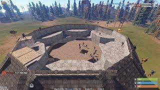 Rust - Дикий клановый онлайн рейд! 40+ человек!