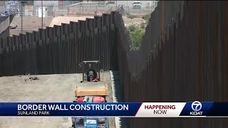 Bulldozers back up: Group continues to build its private border wall