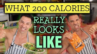 LIFE HACK || MEAL SIZES EXAMPLES || Comparing 200 Calorie Meals || Eat THIS not THAT!!!