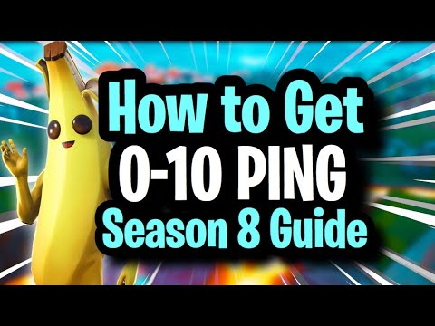 How to Get LOWER PING in Fortnite! COMPLETE GUIDE for 0-10 ping