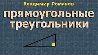 Геометрия ПРЯМОУГОЛЬНЫЕ ТРЕУГОЛЬНИКИ 7 класс