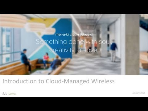 Webinar: Introduction to Cloud-Managed Wireless - YouTube