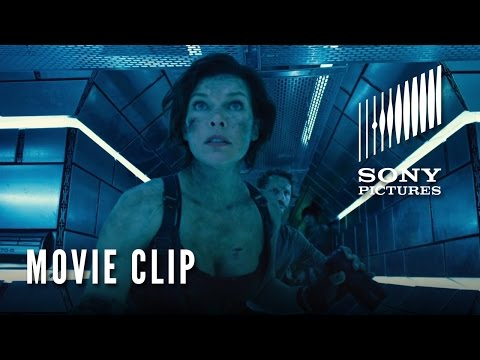"Watch New ""Resident Evil: The Final Chapter"" clip traps Milla Jovovich"