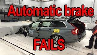 Automatic braking system test fails