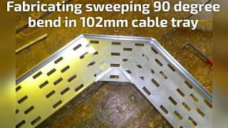90 degree bend in 102mm cable tray