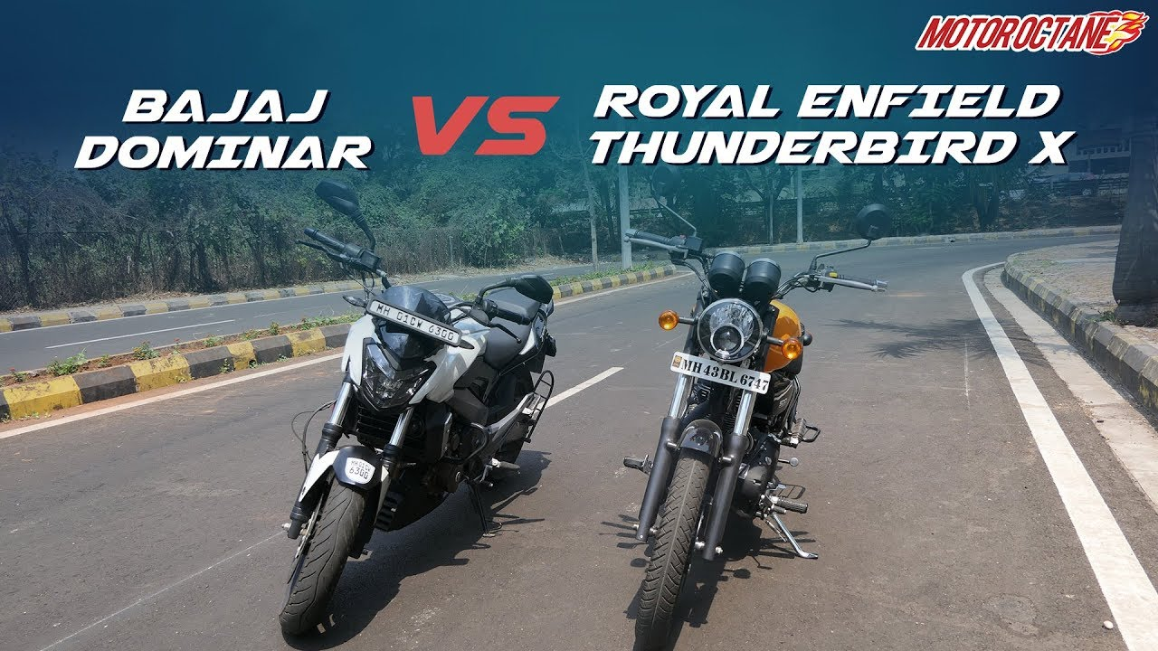 Motoroctane Youtube Video - Bajaj Dominar 400 vs RE Thunderbird X Comparison in Hindi | MotorOctane