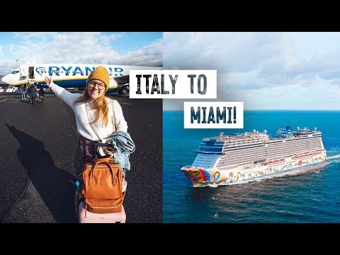 2 Full Days of Travel! 😳Italy to Miami for NORWEGIAN CRUISE!