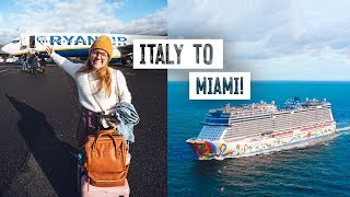 2 Full Days of Travel! 😳Italy to Miami for NORWEGIAN CRUISE!