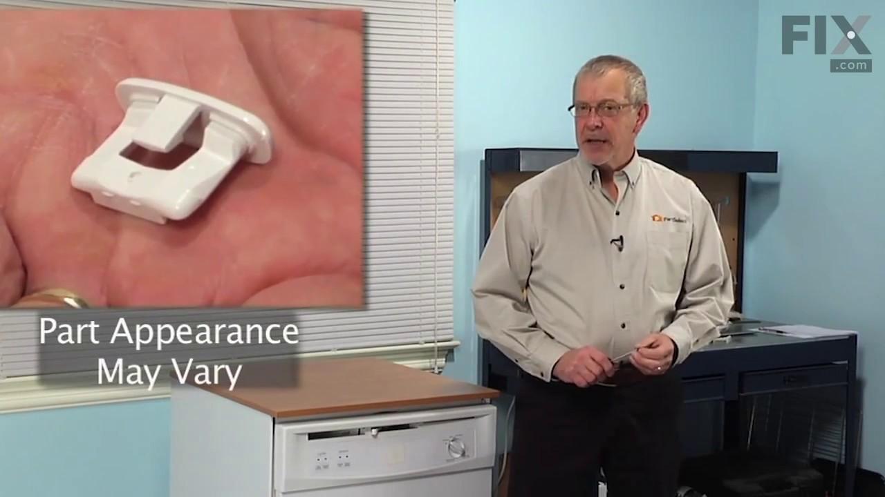 Replacing your General Electric Dishwasher RACK SLIDE END CAP