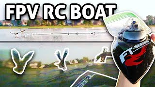 Chasing Geese with FPV RC Boat!