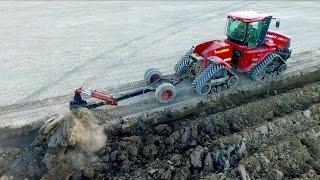 Deep ploughing & Field Leveling | CASE IH Quadtrac 450 & STX 375 | Gebr. Bork diepploegen / Plowing