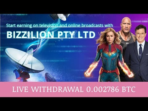 BIZZILION PTY LTD отзывы 2019, mmgp, платит, Live Withdrawal + 0.002786 BTC