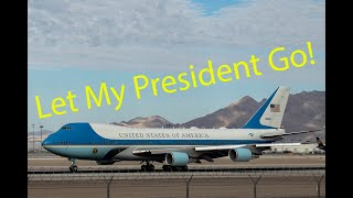 Funny ATC Audio - AIR FORCE ONE Departs KLAS with Funny Pilot Commentary!