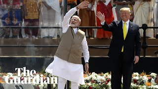Trump sings Modi's praises at massive rally in India