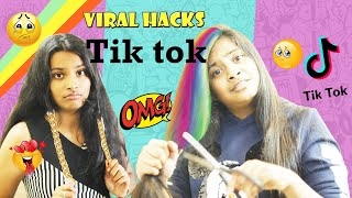 We TESTED Viral TikTok Life Hacks to see if they work!! l Ayu And Anu Twin Sister