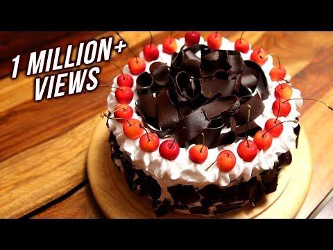 Video Black Forest Cake Recipe   Homemade Eggless Cake Recipe   Divine Taste With Anushruti