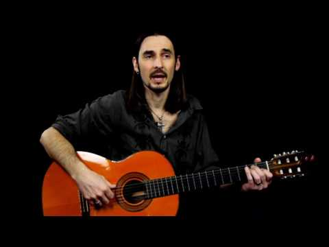 Flamenco Guitar Lesson for Beginners - Basic Rasqueado Strumming