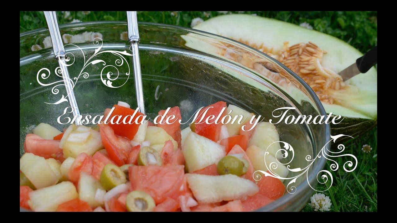 Ensalada de Melon y Tomate Rapida y Facil | Ensalada con Melon | Cocina facil y rapida chefdemicasa