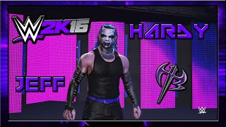 WWE 2K16 Jeff Hardy CAW Formula+Entrance & Finisher