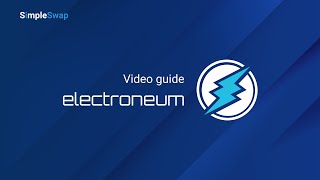 How to buy Electroneum on SimpleSwap | Exchange Bitcoin Cash to Electroneum