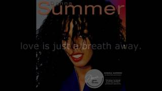 "Donna Summer - Love Is Just a Breath Away LYRICS SHM ""Donna Summer"" 1982"