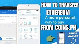 So schicken Sie Ethereum von Trust Wallet nach Munzen.ph