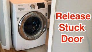 How to release Samsung washer or dryer stuck front load door.