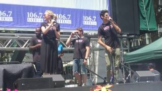 Drew Gehling, Betsy Wolfe and the Cast Of Waitress at Broadway In Bryant Park 07-20-2017