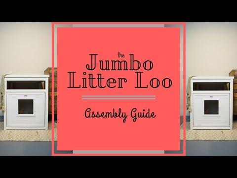 New Age Pet Jumbo LitterLoo Litter Box Cover/End Table - Grey Video